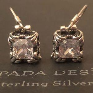 """Silpada Sterling Silver & CZ """"Uptown"""" Earrings"""